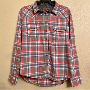 JACHS GIRLFRIEND BEA flannel button down shirt
